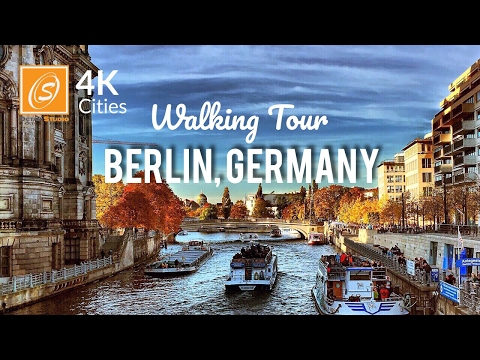 Berlin Walking Tour - Brandenburg Gate, Alexanderplatz, Berlin Cathedral - Germany 4K UHD