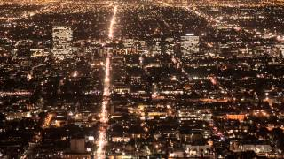 Los Angeles City Night Traffic: Timelapse - Stock Video