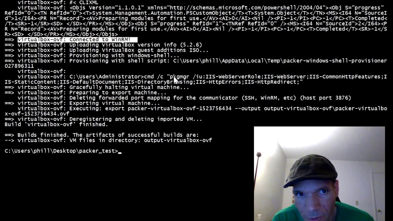 Building a packer image from an existing Virtual Box Windows Server VM
