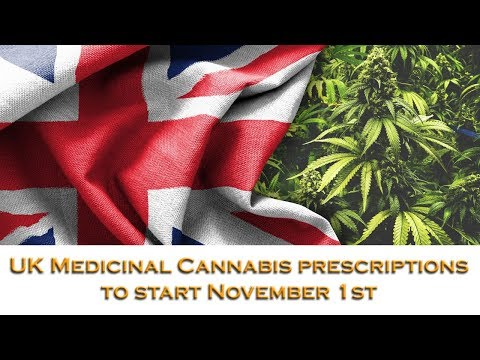 "UK medicinal cannabis available from November 1st via ""specialists"""