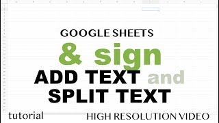 Google Sheets - Ampersand (&), Join Text (CONCATENATE), Text to Columns, LEFT function - Part 8