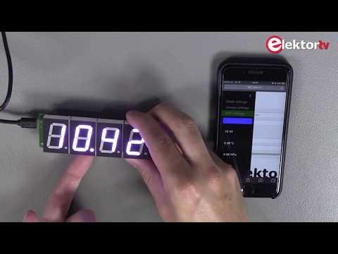 Showcase: Elektor RGB Digit Display with ESP12 wifi Module