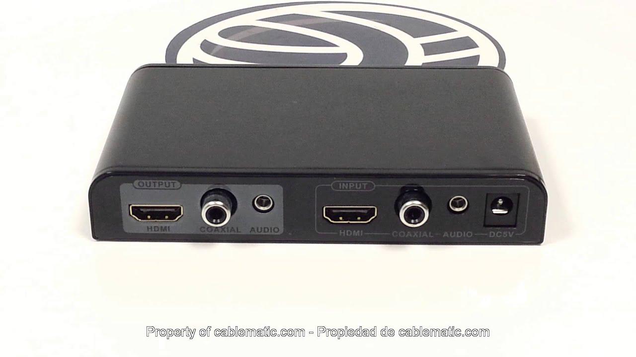 Escalador separador mezclador de audio HDMI distribuido ...