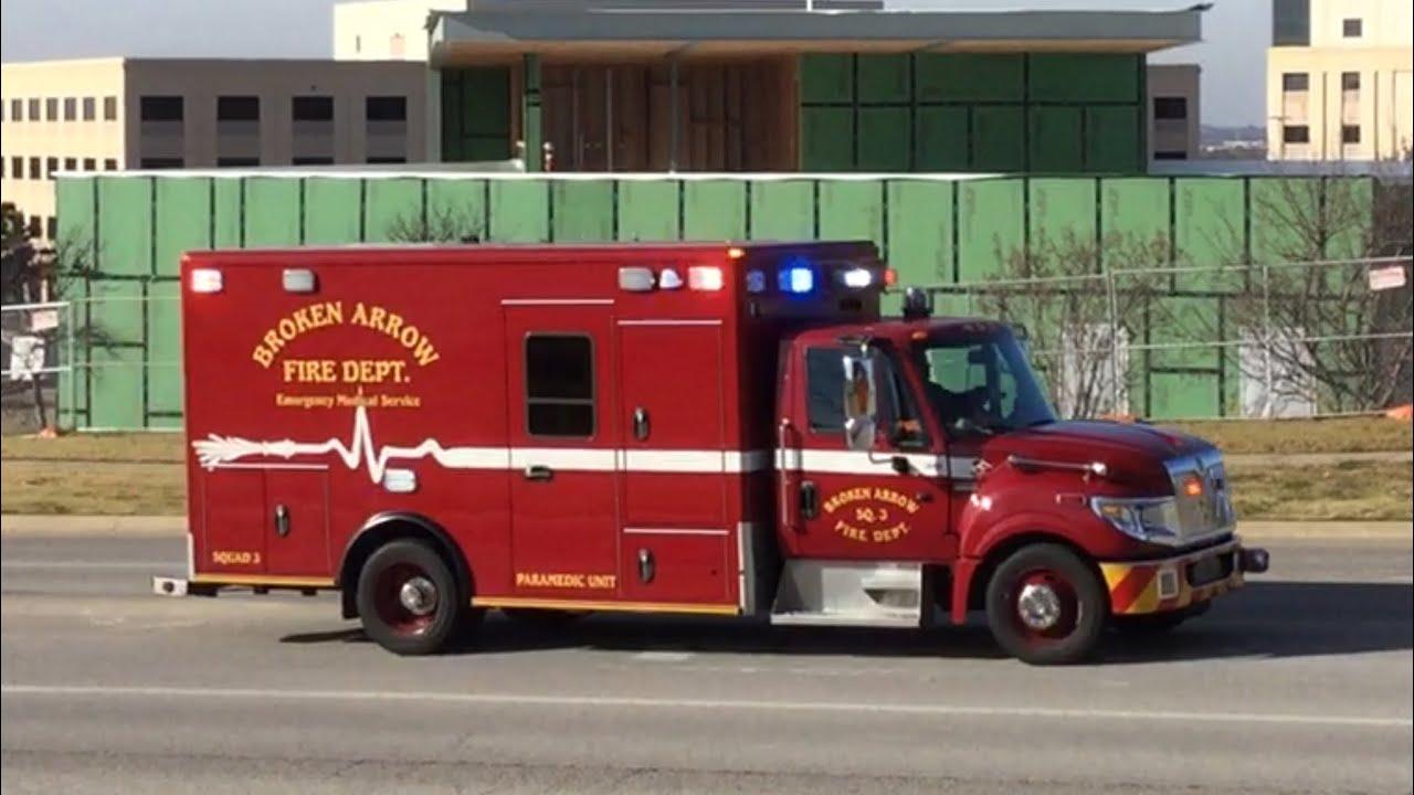 *MAJOR RUMBLER AND HORN ALERT!!!* Broken Arrow Fire Department Squad 3  Responding!