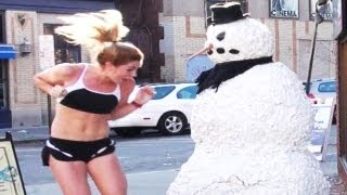 Best Scary Snowman Prank Compilation 2015