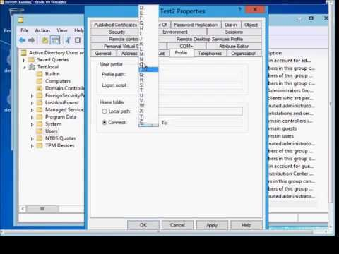 How to map the home folder in Microsoft Windows Server 2012 - YouTube