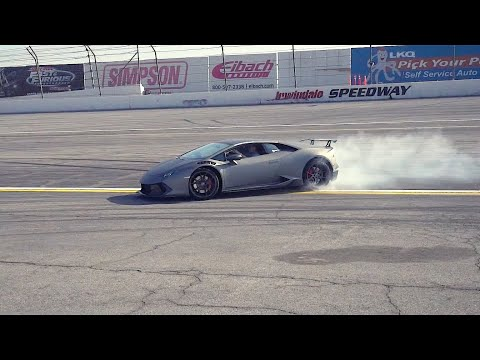 SUPERCHARGED LAMBORGHINI DRIFTS IRWINDALE & DESTROYS TIRES + *AMG C63, BMW M3 Supercharged*