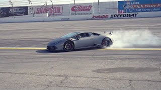 STUNT DRIVER SLIDES SUPERCHARGED LAMBORGHINI AT IRWINDALE!
