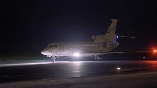 Falcon 8x (N406EX). First landing in Tahiti (NTAA). 12:30AM.15/07/2017