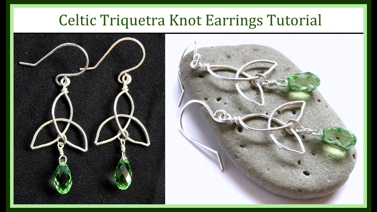 Easy jewelry tutorial how to make a celtic knot charm trinity easy jewelry tutorial how to make a celtic knot charm trinity knot earrings wire wrapped youtube solutioingenieria Image collections