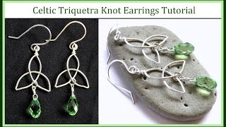Download Video Easy Jewelry Tutorial : How to Make a Celtic Knot Charm & Trinity Knot Earrings : Wire Wrapped MP3 3GP MP4