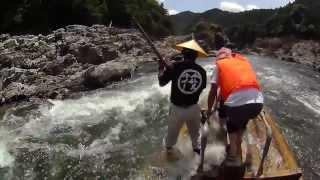 和歌山県北山村 北山川の観光 筏(いかだ)下り 全コース