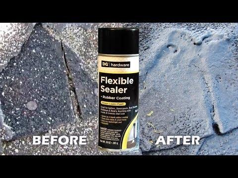 Roof Leak With Flexible Sealer Spray