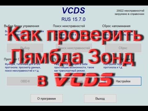Как проверить  лямбда зонды VCDS, тестирование, адаптация турбины.AkerMehanik
