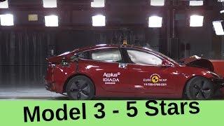 tesla Model 3 Earns 5-Star Euro NCAP Safety Rating in a Crash Test