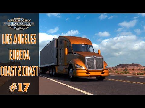American Truck Simulator #17 Los Angeles   Eureka Map Coast 2 Coast ! Pc !