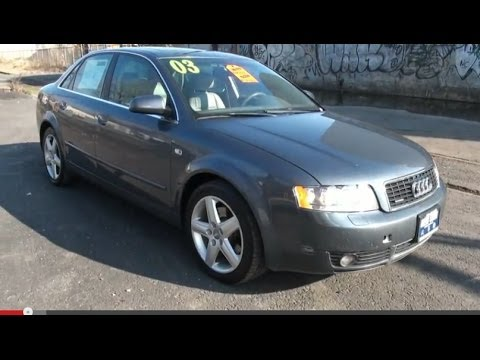 2003 Audi A4 3.0 Quattro Sedan Road Test & Review - YouTube