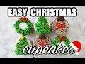 Simple Christmas Cupcakes: Tree, Ornament, Christmas Wreath