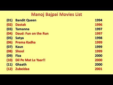 Manoj Bajpai Movies List