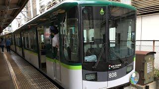 京阪京津線800系新塗装 回送 浜大津発車