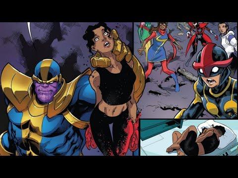 Riri Ironheart attacks Thanos for no reason, receives beatdown [Infinity Countdown Champions #2]