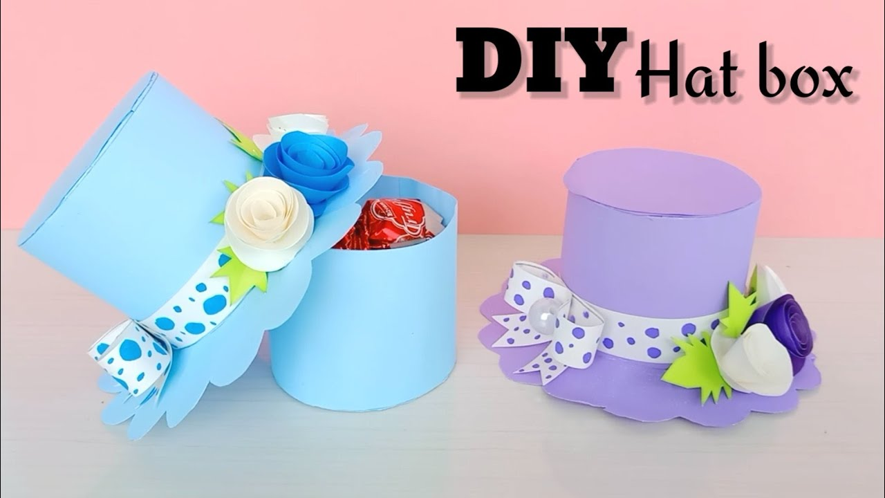 DIY PAPER HAT GIFT BOX / DIY Gift Box / How to make Gift Box ? Easy Paper Crafts Idea / DIY gift box
