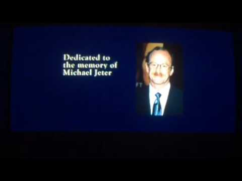 The Polar Express end credits logos Dedication to Michael Jetter