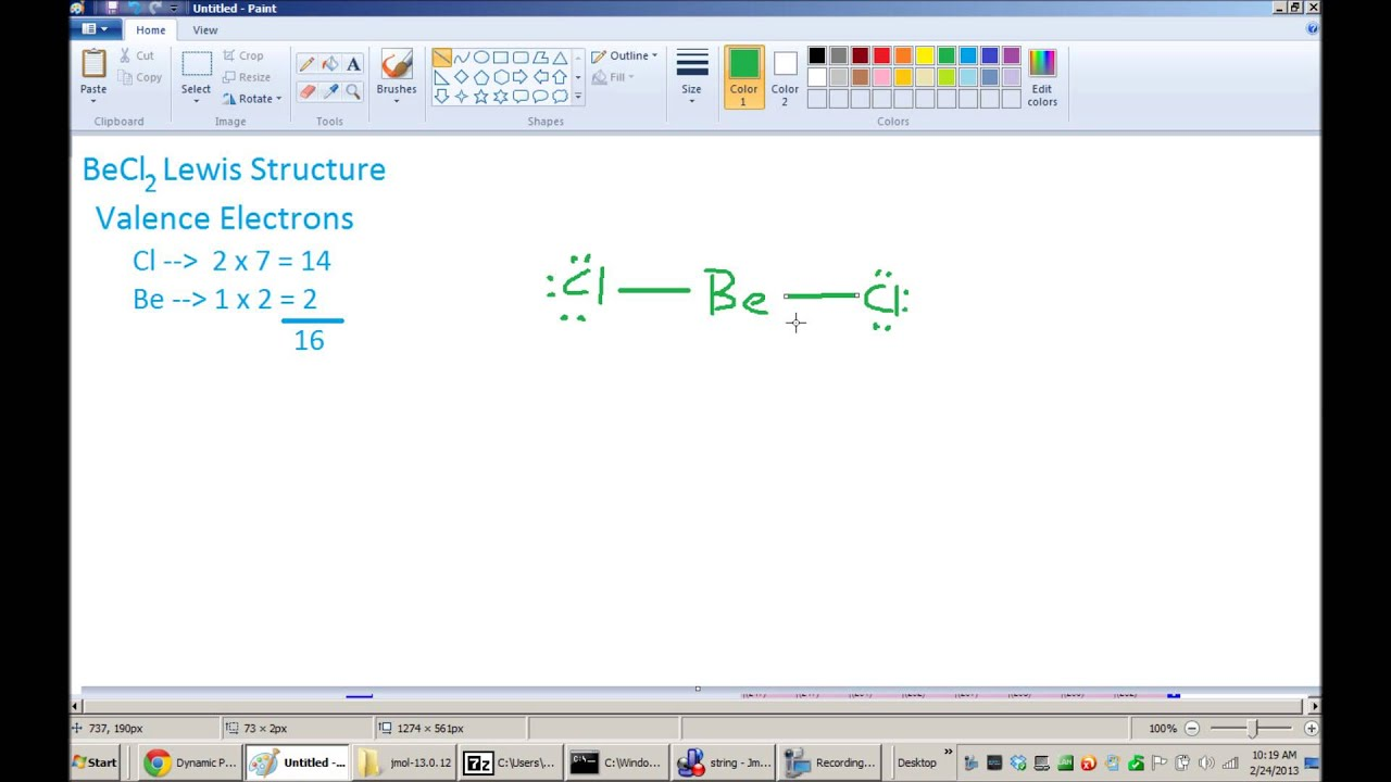 Becl Lewis Dot Structure Electron Diagram Youtube