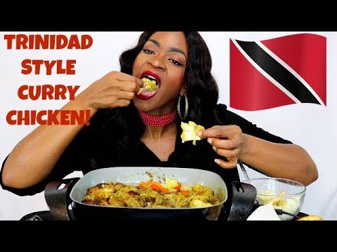 TRINIDAD STYLE CURRY CHICKEN, SWEET PLANTAIN & MORE!! COOKING/MUKBANG