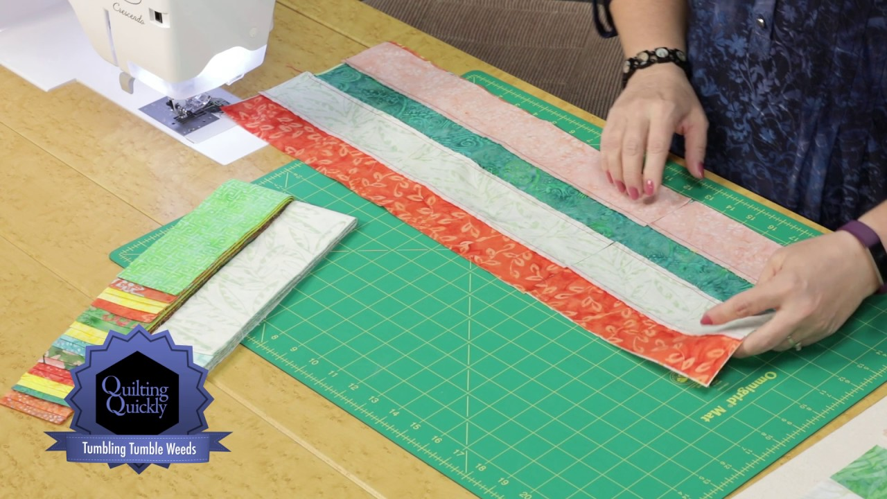 Quilting Quickly Tumbling Tumbleweeds Jelly Roll Quilt