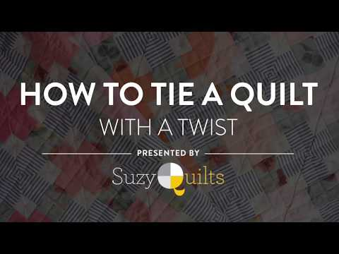 How to tie a quiltwith a modern twist suzy quilts and thats a great way to finish a quilt but can we transform that into something new check out the video below to see exactly what i mean ccuart Image collections