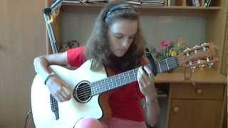 (The Carpenters) Yesterday Once More - Alina Vlasova fingerstyle guitar cover