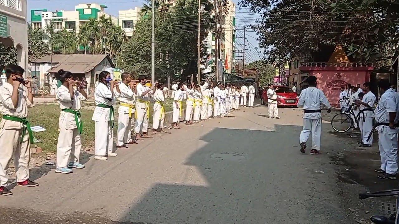 world's strongest karate kyokushin  training & rally with Shihan Himmat Singh and sensei Irfan khan