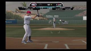 MLB 2K10 (Wii) Angels vs. Rangers (Part 1)