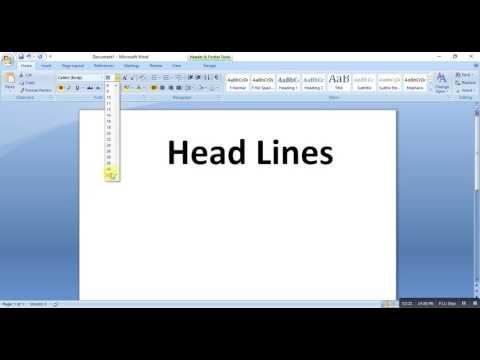 How to write Header, Change Color, bold & Aligning  MS WORD COURSE 1