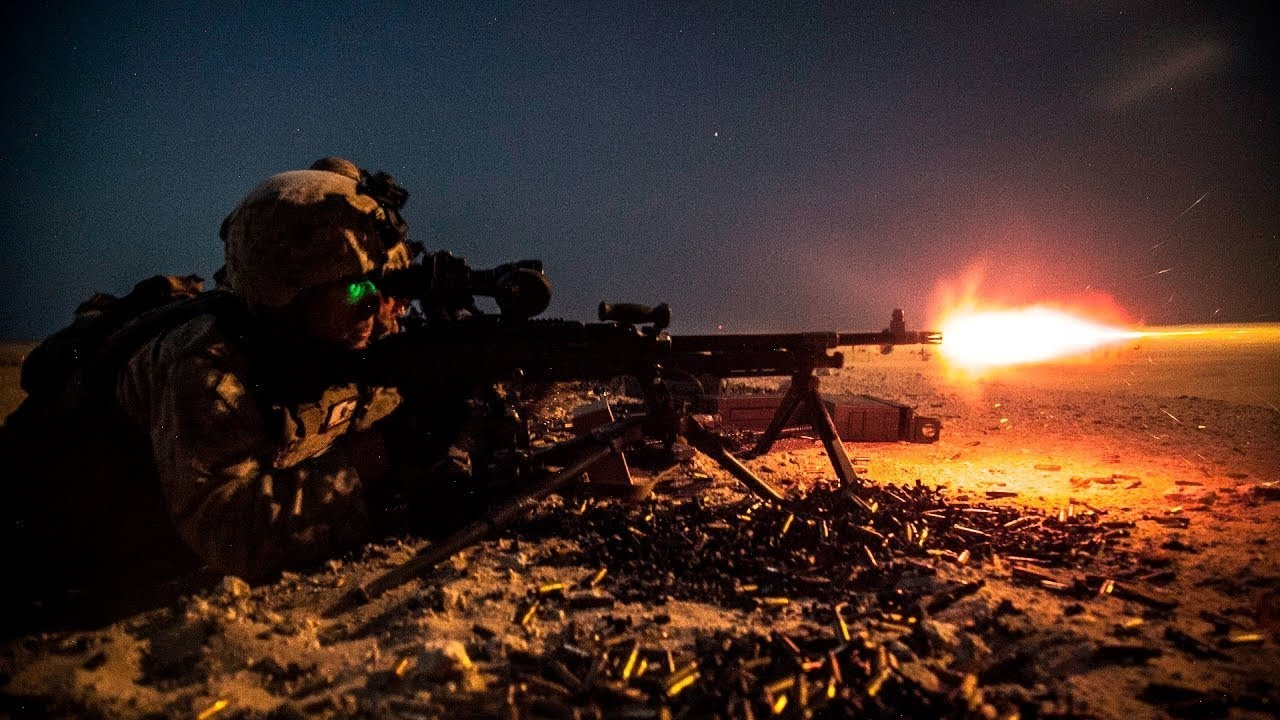 Impressive Firing at Night - Tracers Flying - Night Vision