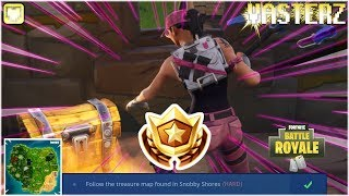 "[Vasterz Plays: Fortnite Battle Royale S5] - ""Follow the treasure map found in Snobby Shores."""