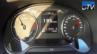 2015 Audi A3 Limousine 2.0 TDI (150hp) - 0-200 km/h acceleration (1080p)