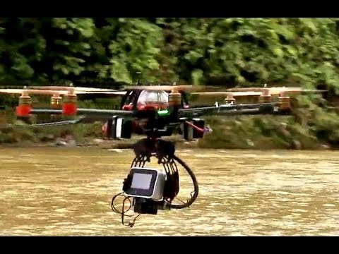 Aerials drone shots behind the scene