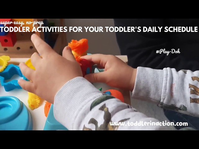 Easy and fun indoor toddler activities for your daily toddler schedule, Play-Doh Time