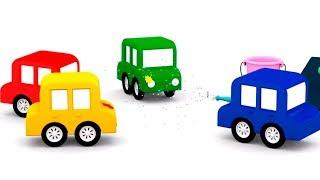 Детские песни - 4 машинки на автомойке - Песенки тв
