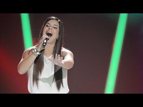 Rosemaree Dinaro Sings Can't Fight The Moonlight | The Voice Australia 2014