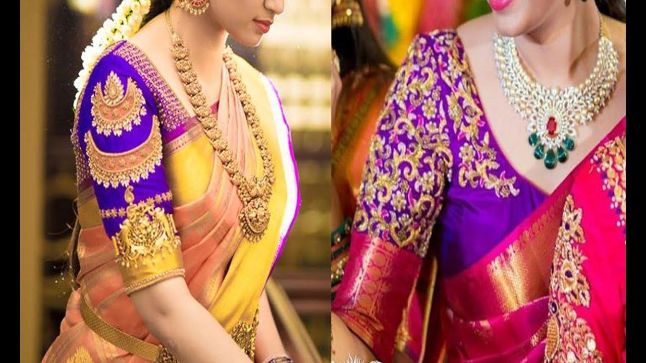 Latest Pattu Saree Blouse Design Collections 2019 Blouse Designs For Pattu Sarees Images Maggam