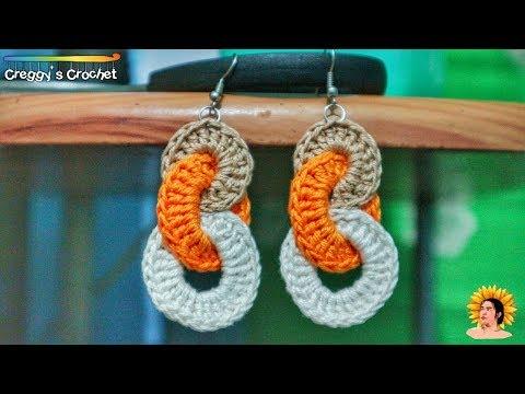 "Crochet ""Interlocking Circles"" Earrings   Tutorial"