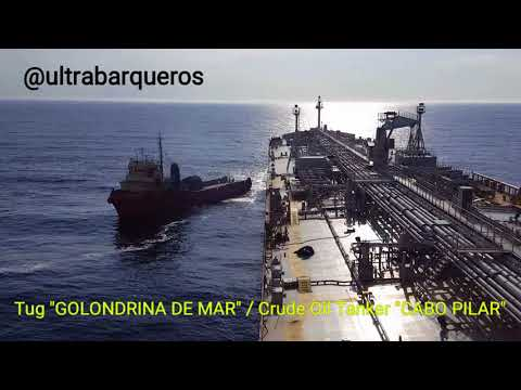 "Offshore Supply Ship ""GOLONDRINA DE MAR"" /Crude Oil Tanker ""CABO PILAR"" / STS TRANSFER OPERATION - 2"