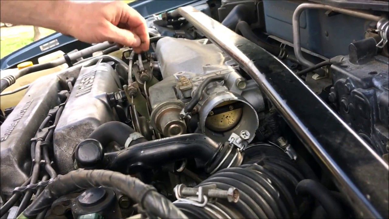 Nissan Sentra b15 Throttle body cleaning sticky gas pedal ...