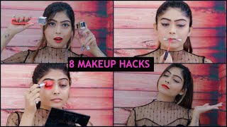 8 MAKEUP AND BEAUTY HACKS Every Girl Must Know | Rinkal Soni