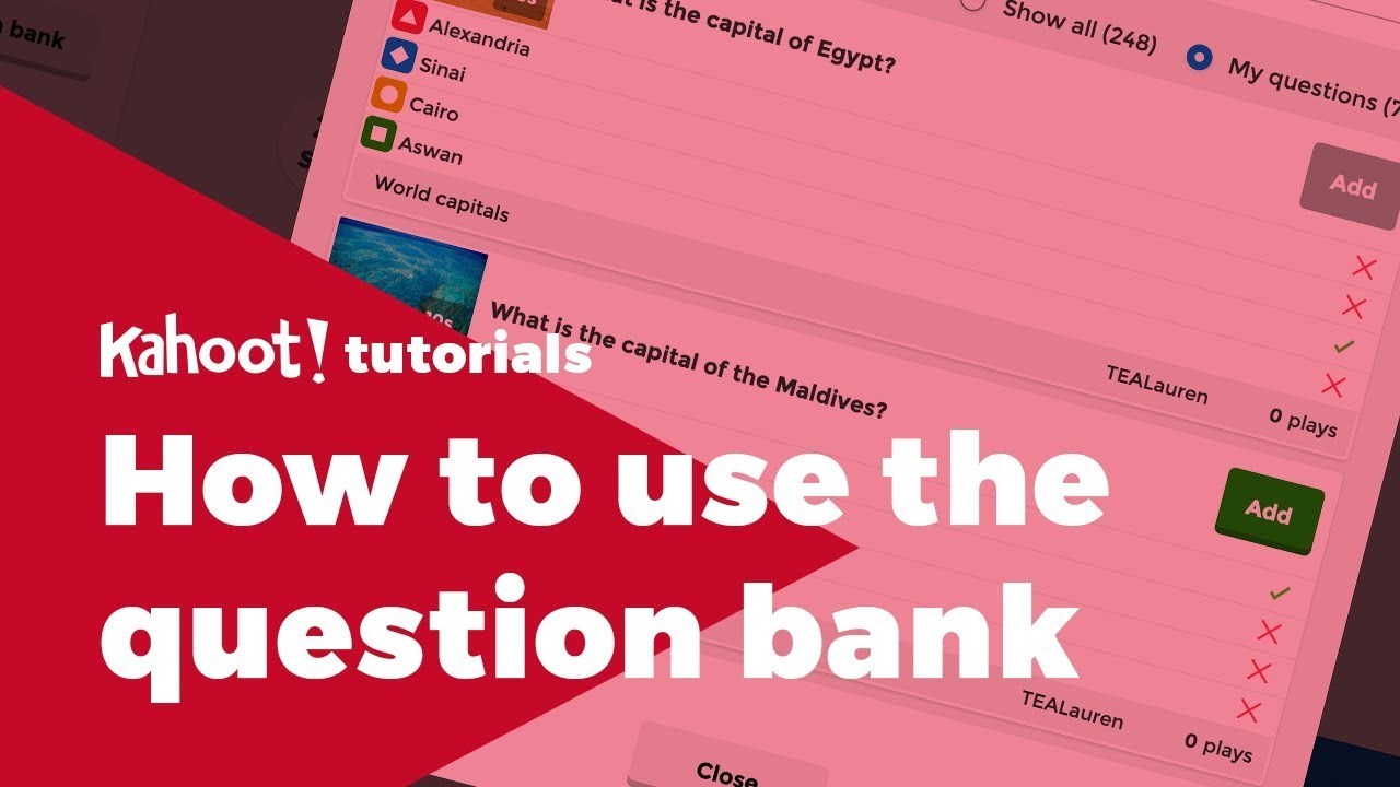 Meet our new game creator with a question bank and new question