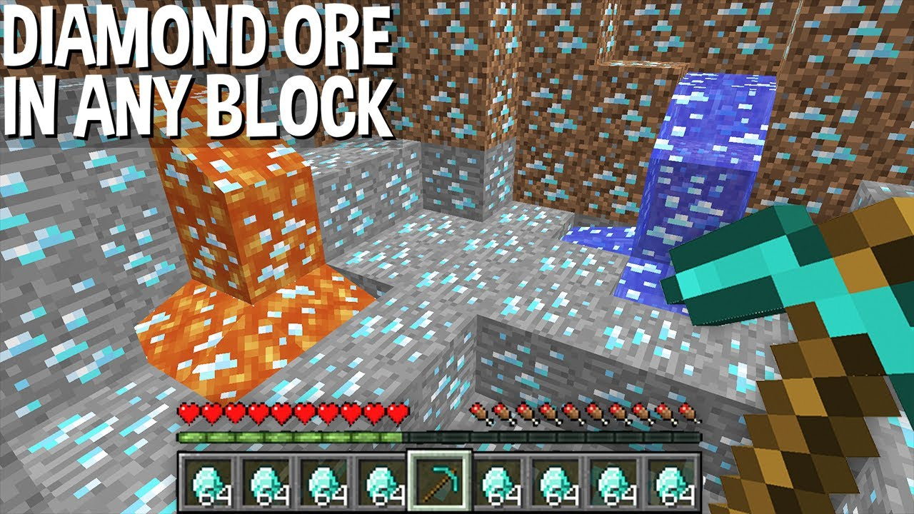 Minecraft but DIAMOND ORE inside ANY BLOCK ! DIAMOND APOCALYPSE !