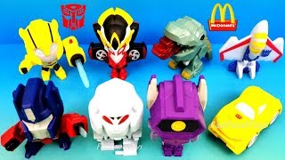 2018 McDONALD'S TRANSFORMERS HAPPY MEAL TOYS BUMBLEBEE MOVIE FULL WORLD SET 8 KIDS UNBOXING EUROPE